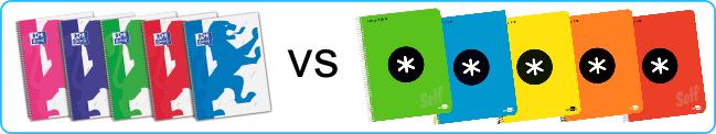 Cuadernos oxford versus Cuadernos antartik